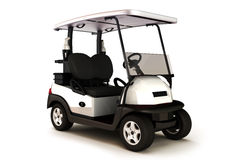 White colored golf cart Royalty Free Stock Photos