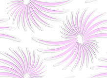 White colored paper floral pink daisy flowers Stock Image