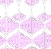 White colored paper pink Chinese lanterns Stock Photography