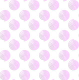 White colored paper pink round spirals. Abstract seamless background with 3D cut out of paper effect. Pattern with realistic shadow. Modern texture. Stylish Stock Photography