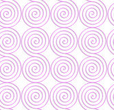 White colored paper pink spirals. Abstract seamless background with 3D cut out of paper effect. Pattern with realistic shadow. Modern texture. Stylish backdrop Stock Images