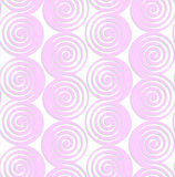 White colored paper pink spirals with thickening Royalty Free Stock Photography