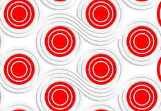 White colored paper red spools merging Stock Image