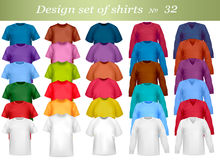 White and colored polo shirts. Stock Images