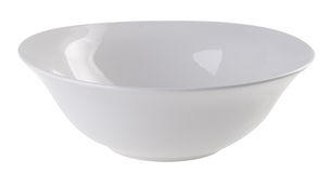A white colour bowl on the white background Stock Photos