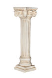 White column. Photo of white column isolated on white background. Clipping path included Stock Photography