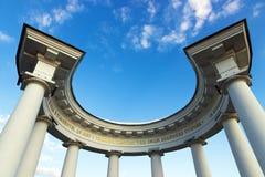 White column. White Arbor column. Poltava. Ukraine Stock Image