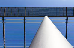 White column and roof made of steel. With lights and shadows Stock Image