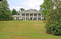White Columned Mansion Royalty Free Stock Images