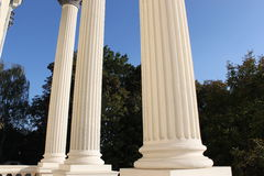 White columns Royalty Free Stock Photos