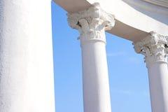 White columns. Column monument stuette pattern art building Royalty Free Stock Photos