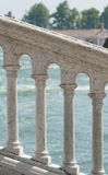 White columns on a background of the sea., Venice Royalty Free Stock Image