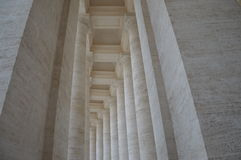 White columns Royalty Free Stock Photography