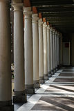 White columns in a row Royalty Free Stock Photography