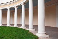 White columns. White stone columns standing in a row Stock Photos