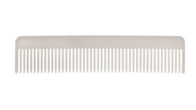 White comb isolated on white Royalty Free Stock Photography