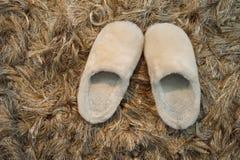 White comfort slipper Royalty Free Stock Images