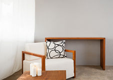 White comfortable sofa seat Royalty Free Stock Photo