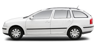 White commercial combi car stock photography