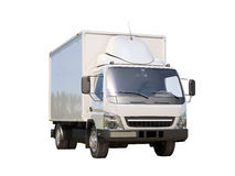 White commercial delivery truck Royalty Free Stock Photography