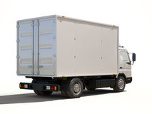 White commercial delivery truck Stock Image