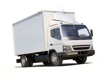 White commercial delivery truck Royalty Free Stock Photo