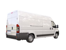 White commercial delivery van Royalty Free Stock Photography