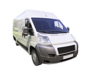 White commercial delivery van Stock Photos