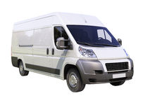 White commercial delivery van Royalty Free Stock Image