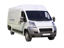 White commercial delivery van Stock Images