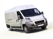 White commercial delivery van Royalty Free Stock Photos