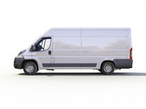 White commercial delivery van Stock Image