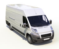 White commercial delivery van Royalty Free Stock Photo