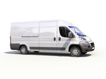 White commercial delivery van Stock Photo
