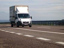 White  commercial Peugeot van Stock Image