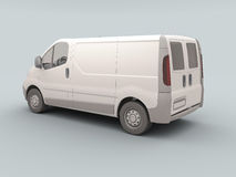 White commercial van Stock Image