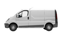 White commercial van isolated Royalty Free Stock Photo