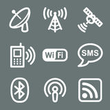 White communication web icons Royalty Free Stock Photo