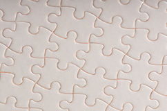White complete jigsaw puzzle royalty free stock photo