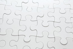 White completed puzzle Stock Photography