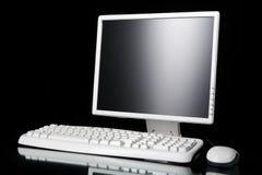 White computer on black Stock Photo