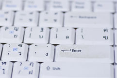 White computer keyboard. Close up of computer keyboard Stock Image