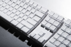White computer keyboard Royalty Free Stock Photography