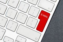 Keyboard E-mail on the black background royalty free stock image