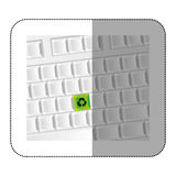 white computer keyboard with recycle symbol icon Stock Photography