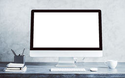 White computer monitor Stock Photography