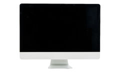 White computer monitor isolated Stock Image