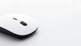 White computer mouse Royalty Free Stock Image