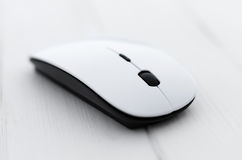White computer mouse Royalty Free Stock Images