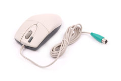 White computer optical mouse Stock Photos